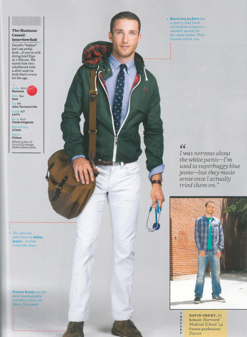 Baracuta Moscow G9 Hooded Harrington in GQ USA September issue