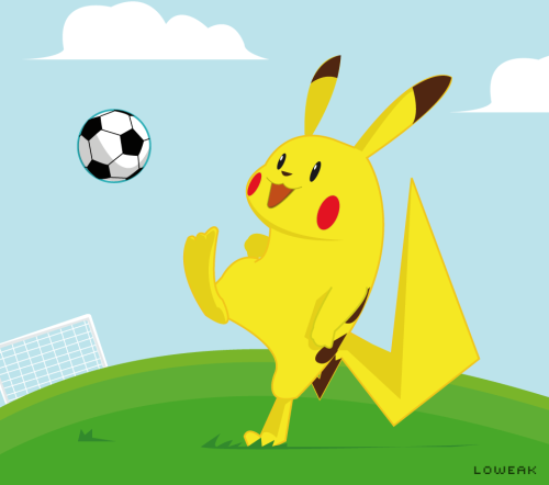 Today, a Pikachu's illustration Pika Soccer !