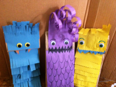 Made puppets for CAMP!