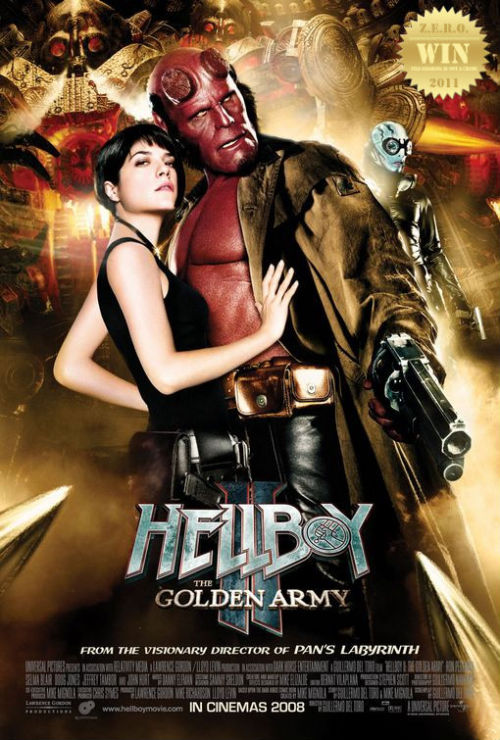 Hellboy II: The Golden Army (2008) The mythical world starts a rebellion against humanity in order to rule  the Earth, so Hellboy and his team must save the world from the  rebellious creatures. Based on the comic written and illustrated by Mike Mignola. Guillermo del Toro betters his 1st Hellboy with a non-stop action fantasy sequel! Bigger, badder monsters and creatures. And maestro Danny Elfman sets the mood and tone with his whimsical scoring. Ron Perlman, Selma Blair and Doug Jones (Faun, Silver Surfer) return as the super trio out to save the world from ghastly horrors. WOAH!!! joining them on this journey is Johann Kraus, voiced by Seth MacFarlane! John Hurt and Jeffrey Tambor add a vintage flavor to the excitement and thrill of this fantastic journey. Luke Goss and Anna Walton were perfect as the royal family members torn between destroying and saving the world. And their golden army??? Was superbly done! I loved how they animated and designed the mechanical beasts. The underworld market and new weaponry were a great touch. Not to mention the humor! So much better than the 1st. 2008 was a great year for comic book movies. No news of a part 3, yet…