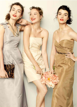 notyourordinaryday:  Dresses in a muted color palette. Love. (Photo: J.Crew)