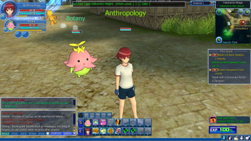 Playing this new game: Digimon es #1 aehuaehuaehuehu. It was so laggy on the first day from all of the BR's….but das ok bcos am on kwest 4 5/5 kunemon aeuaehuaehu