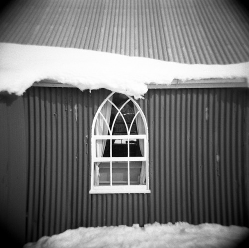 Snow Church / Naseby / New Zealand by Holga 120GN by Matthew McCutcheon on Flickr.