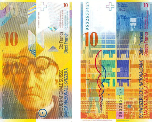s71:   Le Corbusier, 10 Swiss Franc Note