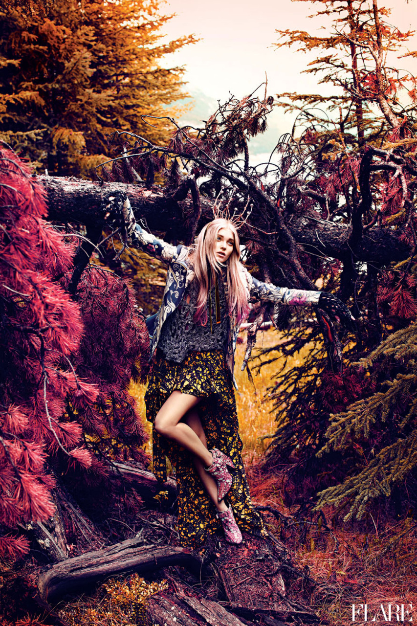 flarefashion:  Nature of Prints - September 2011 / Fashion Director: Elizabeth Cabral / Photographer: Chris Nicholls Click here to see Elizabeth Cabral's favourite trends for Fall 2011.