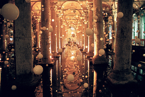 This is stunning. allthingseurope:  The Basilica Cistern, Istanbul, Turkey (by MagdaBis)