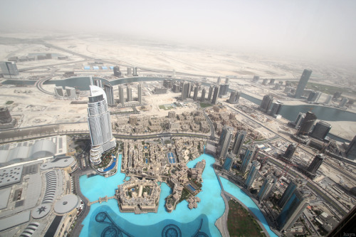 coldest-night:  View from the top of Burj Khalifa, the tallest building in the world.