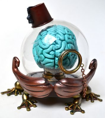 "razzmons:  ""Fezzes are cool."" Customized Jumping Brain by Doktor A"