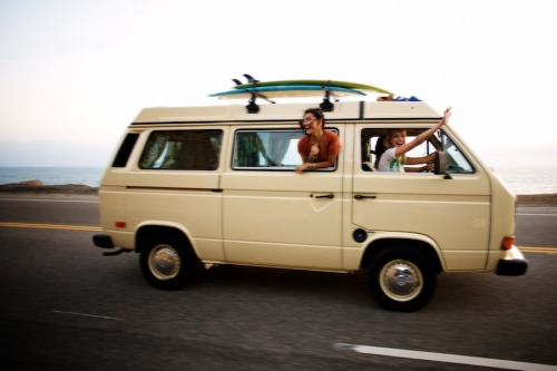"I can feel the air already. clubmonaco:   Road Trip  ""Grab some friends, pile into a van, and just get out of town."" -F.E. Castleberry"
