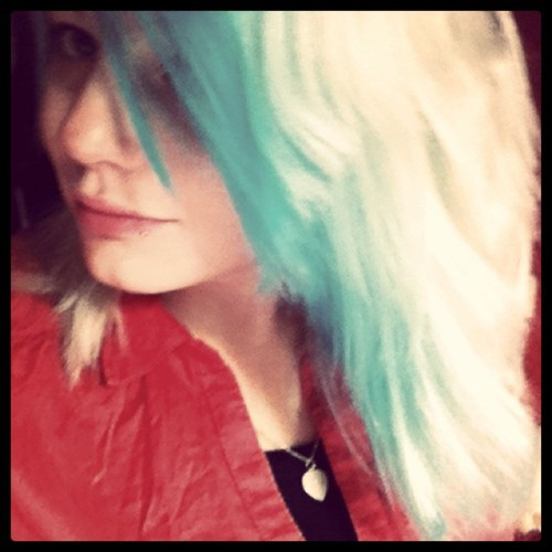 #hair #bleu (Taken with instagram)