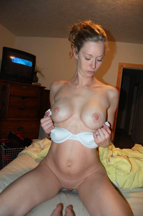 hometownladies:  Wife Showing Off for Her Husband … and for Us