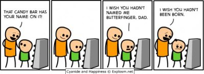 collegehumor:  Candy Bar - Cyanide & Happiness Comic