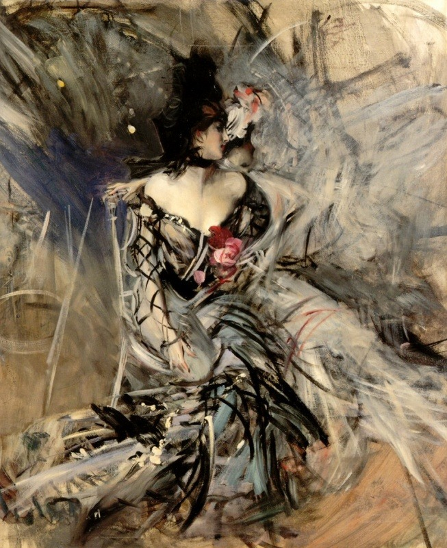 Spanish Dancer at the Moulin Rouge by Giovanni Boldini (1842-1931)   Loving the brushstrokes.