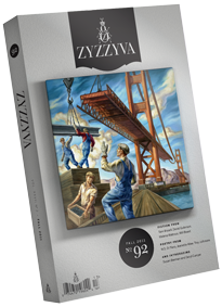 "Owen Smith, ""Building the Iron Horse"" featured on the current cover of ZYZZYVA,8/2011."