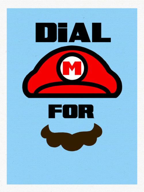 insanelygaming:  Dial M for Mario - by Mike Nieuwstraten Available on Society6