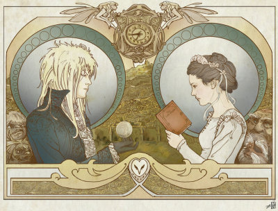 finallyiamnoone:  [Art Nouveau Labyrinth poster, by janey-jane.]