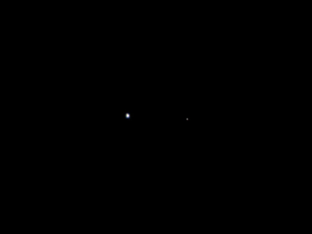 sirmitchell:  The Earth and the Moon. Taken 6 million miles away by the Juno spacecraft which is on its way to Jupiter.  Man, space is neat! Everything we love and hate and know is on that pale blue dot.