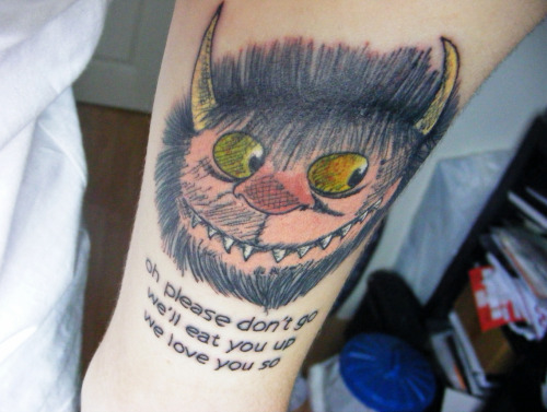 fuckyeahtattoos:  where the wild things are, done at body art in north east england.