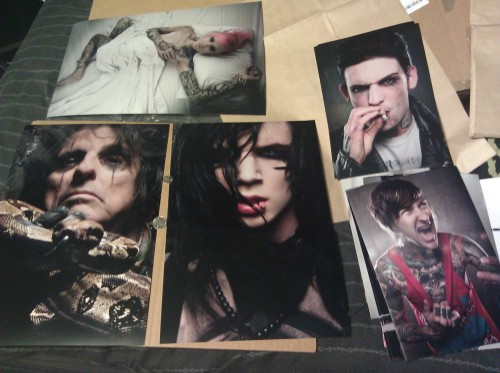 came home to the prints and my personal big prints in the mail. these look dope. maybe ill make some big prints available in the store. what do you think? theyd be pricey (50-75 bucks or so) but look sooooo awesome.