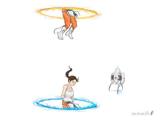 bendrawslife:  Portal Wallpapers! Decided to make the Portal gif image into wallpapers, in case anyone were interested. Just click the link (or right-click and save as) of the resolution size you desire. 1024 x 768 1152 x 768 1280 x 720 1280 x 768 1280 x 800 1280 x 854 1280 x 960 1366 x 768 1400 x 1050 1440 x 900 1440 x 960 1600 x 1200 1680 x 1050 1920 x 1080 1920 x 1200 Enjoy!