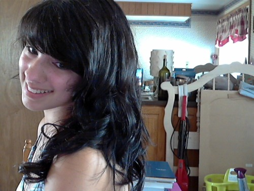 Oh hi Tumblr. I curled my hair. I've been a bit of a webcam whore these past few days, haven't I?
