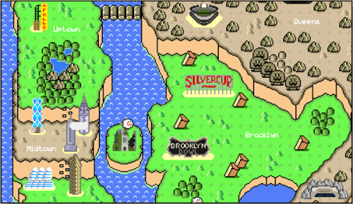flavorpill:  Super Mario map of NY