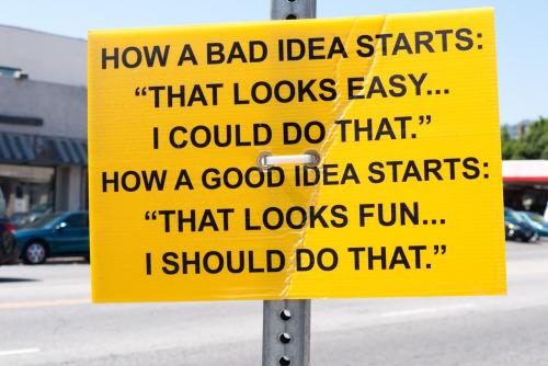 Idea Start Sign
