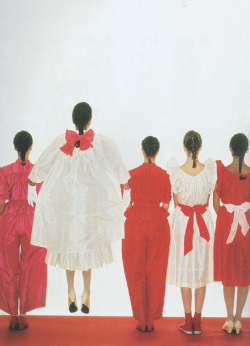 kenzo spring 1980 collection featured in vogue italia