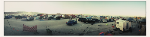 laurenlemon:  From the top of our camp, 7:50 & E Burning Man 2011