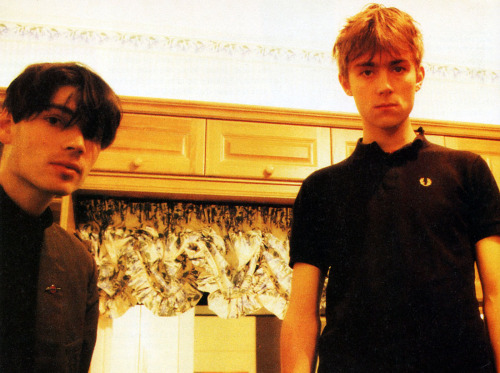Blur's Alex James & Damon Albarn, Vox Magazine, 1994.  Photo: Sam Harris
