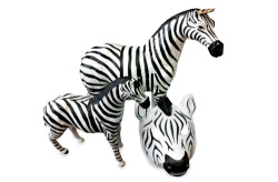an american import: we found these zebras at a specialty shop in new york city and brought them across the pond for our london debut.