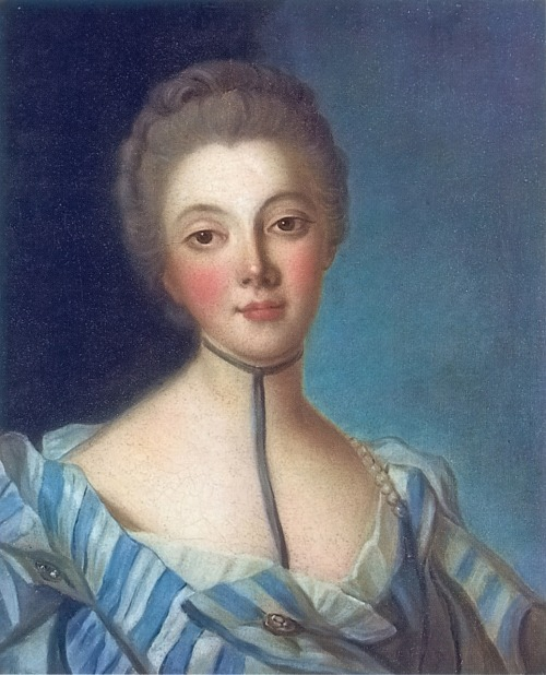 missfolly:  Portrait of Louise Dupin by Jean Marc Nattier, ca. 1733