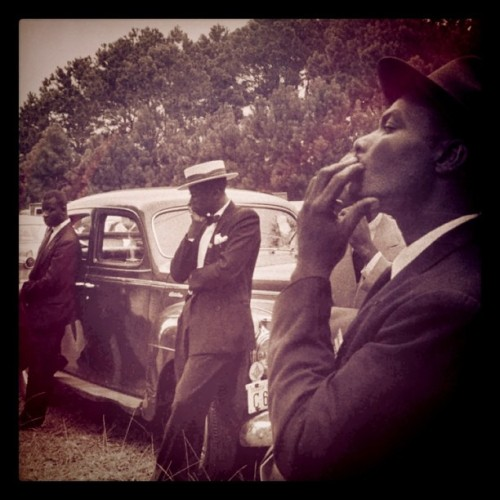 Robert Frank - Funeral—St. Helena, South Carolina, 1955 Modified using instagram. View original version here.