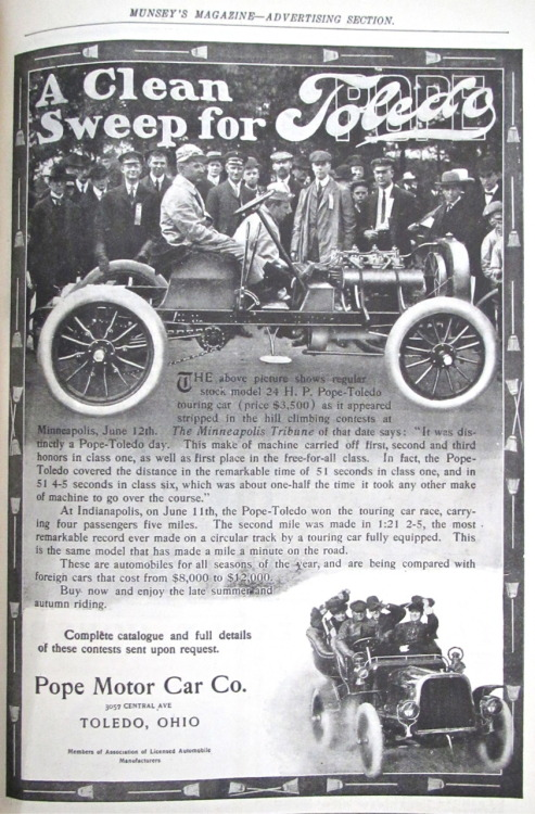 Pope-Toledo touring car, $3500 (1904) #ad