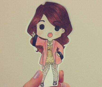 Little Bora's turn (I didn't have a darker brown for her hair T^T)