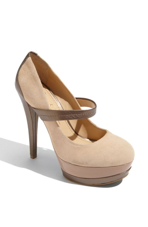 Shoe lust of the day: Jessica Simpson Cheetah Pump in Sand I've been wanting to add a nude-colored pump to my shoe collection, and have been eying this cute Mary Jane style by Jessica Simpson for quite sometime. Well, yesterday Nordstrom put these babies on SALE. I really hope a pair in size 6 will still be around at the end of the week, when I get paid!! *crosses fingers*