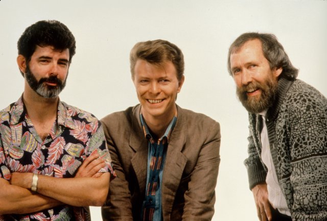 George Lucas, David Bowie and Jim Henson