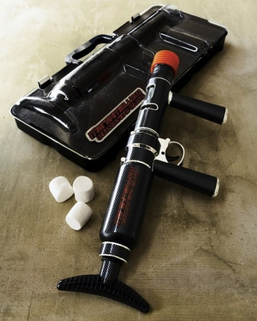 Check out our review on the Executive Elite Marshmallow Blaster, sure to make you cream your pants. Y'know… if you get shot there. http://www.gadgetreview.com/2011/08/executive-elite-marshmallow-blaster.html