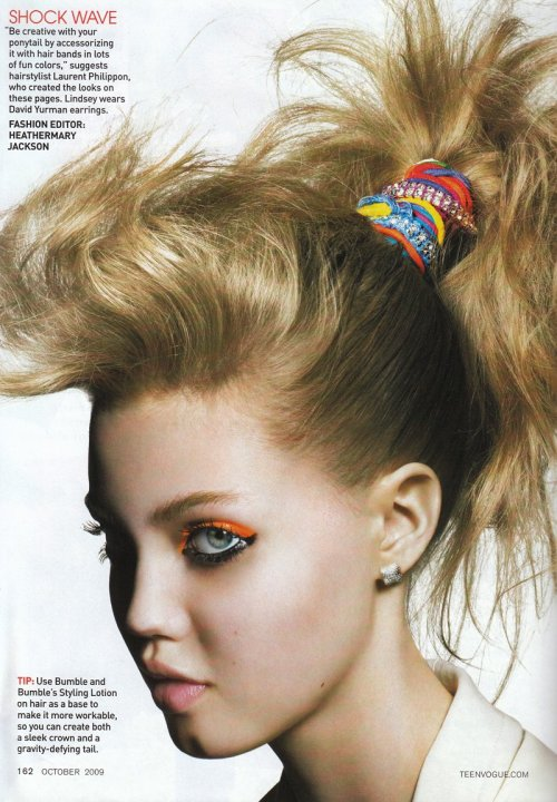acceptable:  lindsey wixson by raymond meier for teen vogue october 2009