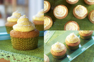 breakfast-brunch-dessert:  Mango Filled Coconut Cupcakes with Mango ButtercreamFor cupcakes:  2 1/2 cups flour  2 teaspoons baking powder  1/2 teaspoon baking soda  1/2 teaspoon salt  1/2 cup ground coconut (plus more for decorating)  1/2 cup coconut milk  1/2 cup vegetable oil  1 teaspoon vanilla extract  8 tablespoons butter  1 cup sugar  3 eggs For mango filling: 1 cup heavy cream 1 mango, finely chopped For mango buttercream: 12 tablespoons butter  1 mango, minced  4 cups (or more) powdered sugar Directions To make cupcakes, preheat oven to 350F and line 24 muffin cups with liners.  Whisk together flour, baking powder, baking soda, salt and ground coconut in a mixing bowl and set aside.  In a measuring cup combine coconut milk, oil and vanilla extract, set aside.  In a large mixing bowl beat butter and sugar with an electric mixer until light and fluffy.  Add eggs, one at a time to the butter/sugar mixture, beating well after each addition.  Add flour mixture and milk mixture in alternating batches, beginning and ending with the flour mixture and beat until combined.  Spoon batter into cupcake liners and bake for 20 minutes or until golden and toothpick inserted in the center comes out clean.   While the cupcakes are baking prepare the filling.In a mixing bowl beat cream until whipped cream is formed, about 7 minutes. Mix in the finely chopped mango and set aside.   While cupcakes are cooling, make mango buttercream. In a mixing bowl cream together mango and butter. Add powdered sugar slowly until everything is incorporated and smooth (add more powdered sugar if necessary to achieve the consistency desired) and set aside.   Once cupcakes are completely cooled, make a hole in the center of each cupcake using a plunger (an apple corer works wonders too!) reserving tops. Pipe in mango cream to the center of each cupcake and return top to cupcake. Frost cupcakes with mango buttercream and decorate with coconut flakes.