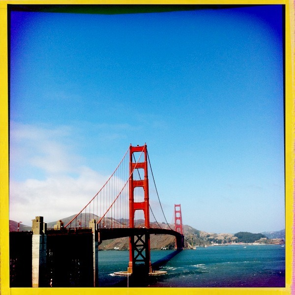Golden gate Watts Lens, Big Up Film, No Flash, Taken with Hipstamatic