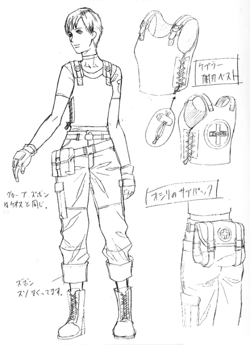 Rebecca Chambers [Offical Capcom concept art]