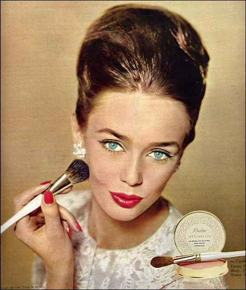 Cosmetics advertisement, French magazine, 1960's