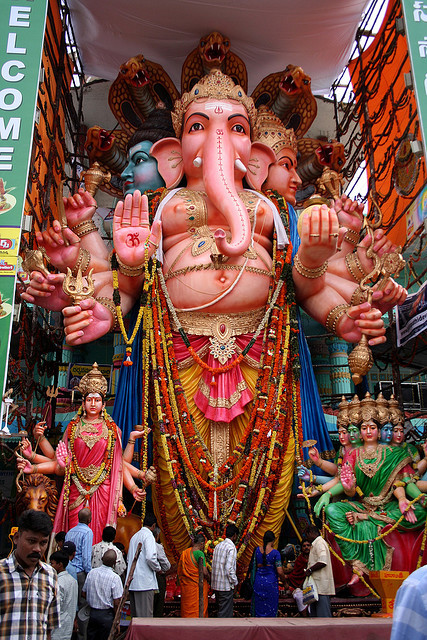 mrdingo:  Ganesh Chaturthi by anaxila on Flickr.