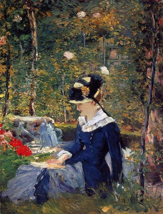 Woman in the Garden, 1880, Edouard Manet.