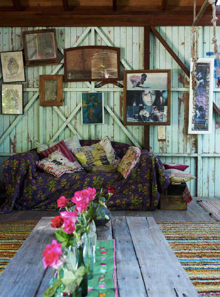 My Bohemian Home ~ Living Rooms This is fantastic. Can I have a barn, please?