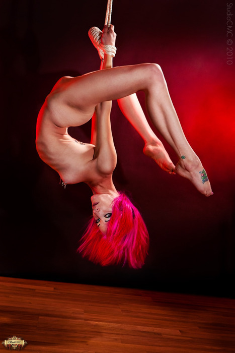 wasabassco:  acrobatics, contortion, ropes, piercings, nudity, pink hair… this one has it all.