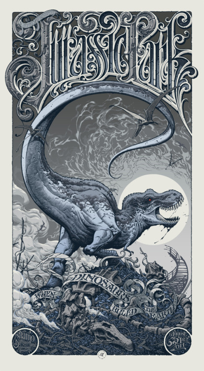 supersonicelectronic:  Jurassic Park by Aaron Horkey.