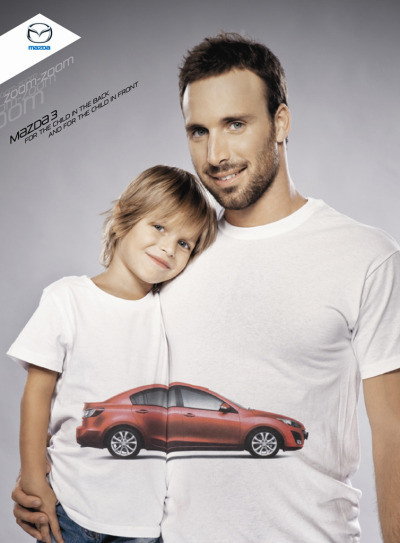 jaymug:  Mazda 3 For the child in the back and for the child in the fron