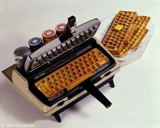 idpaste-up:  keyboard waffle maker, delicious !